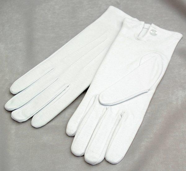Plain White Cotton Gloves
